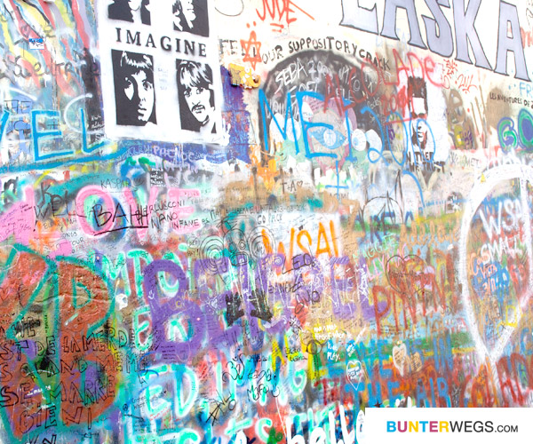 John Lennon Wall in Prag