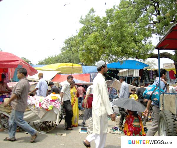 Indischer Markt* Diesen findest du in Delhi