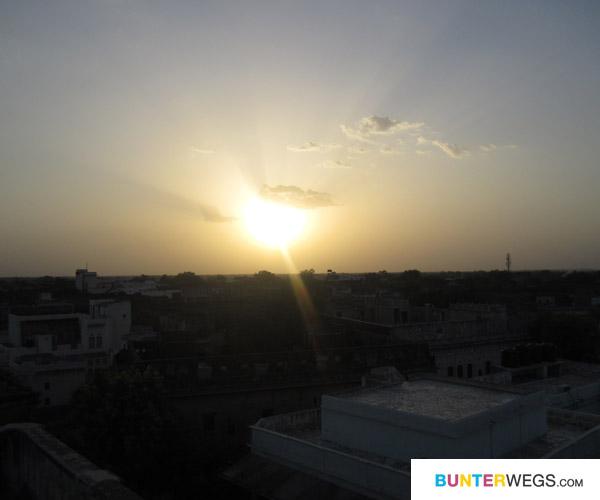 Aussicht von einem Haweli in Nawalgarh, Indien*