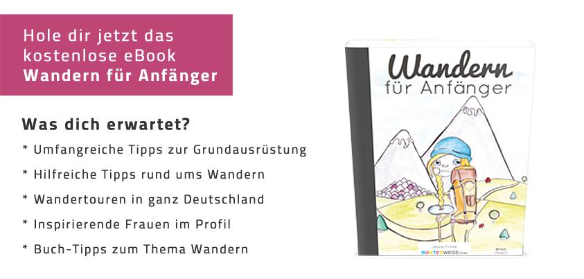 """eBook """"Wandern für Anfänger"""" von Jessie * BUNTERwegs.com"""