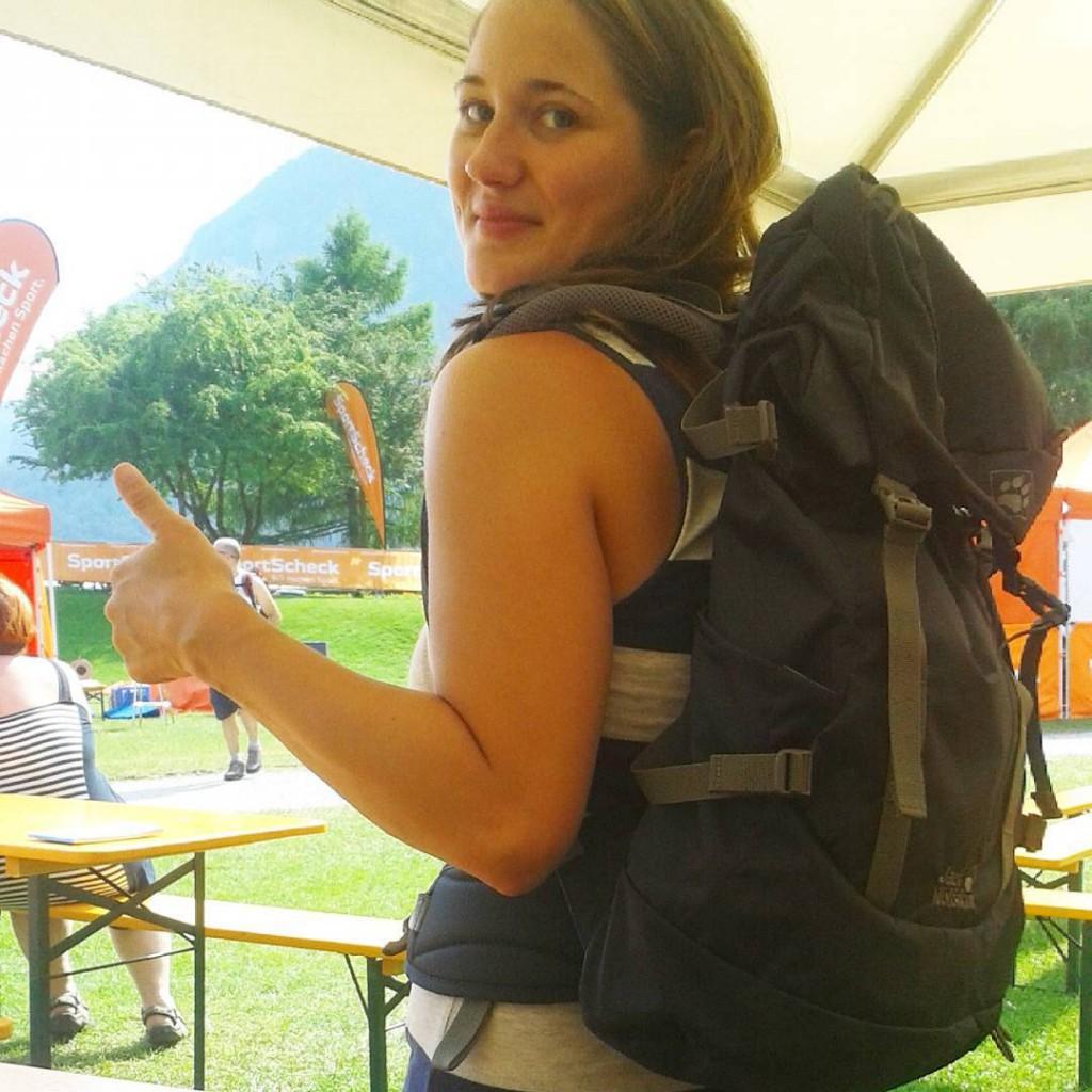 Jessie von BUNTERwegs auf dem SportScheck OutdoorTestival