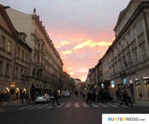 Prag mit Sonnenuntergang * BUNTERwegs.com