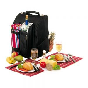 Picknickrucksack für 2 Personen mit Fleece-Decke und Kühlfach * BUNTERwegs