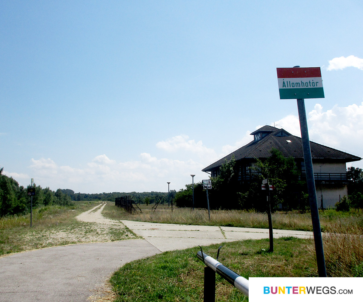 bunterwegs2nepal: Der Euro Velo 6 kurz hinter Bratislava, Slowakei an der ungarischen Grenze * BUNTERwegs. Der Outdoor Blog für Frauen mit Liebe zum Wandern und zur Street Art