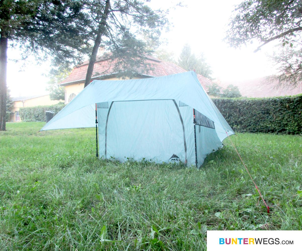 Zelten in Örkeny: Das Zelt Flylite von MSR * BUNTERwegs. Der Outdoor Blog für Frauen mit Liebe zum Wandern und zur Street Art