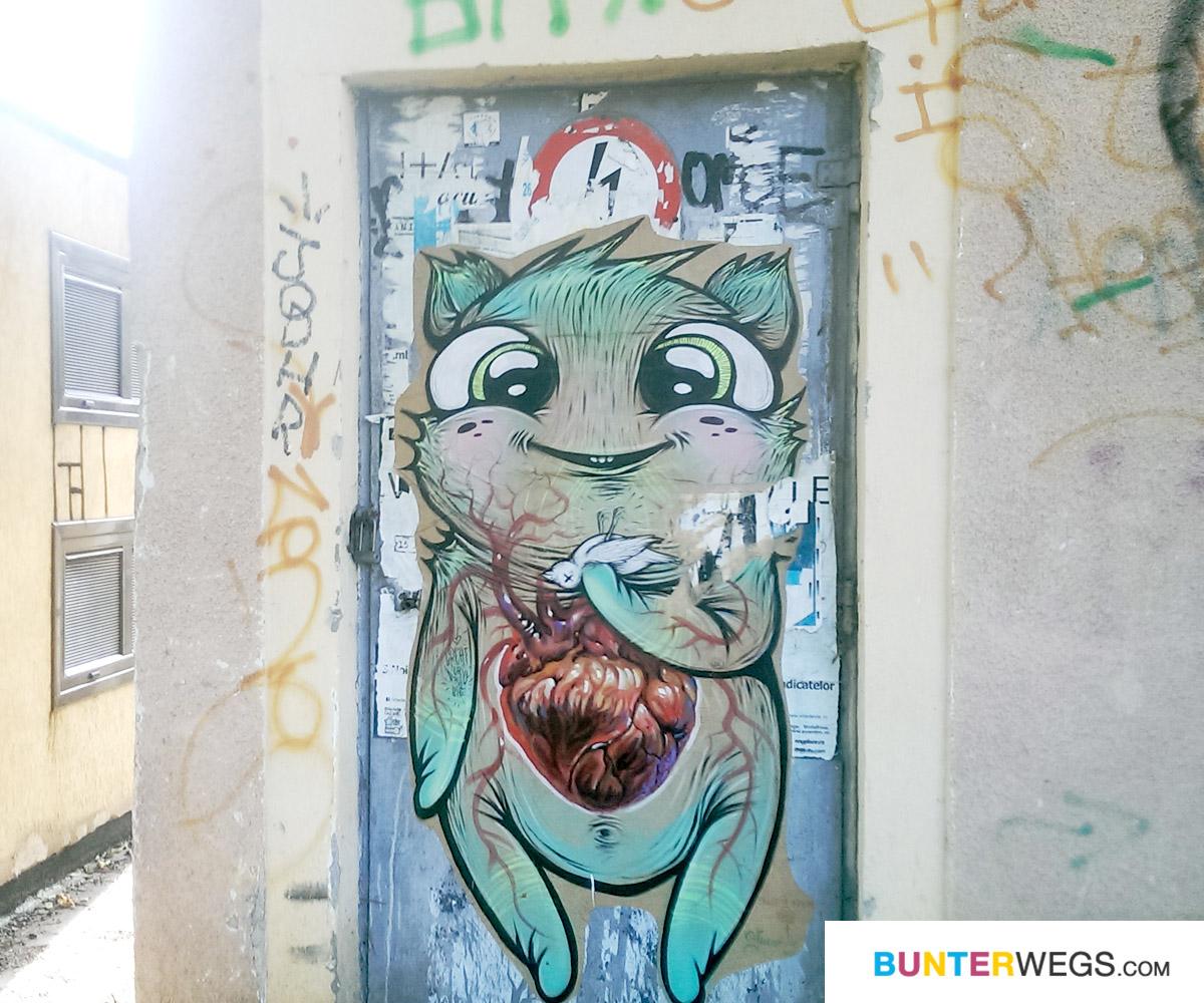 Street Art in Sibiu, Rumänien * BUNTERwegs. Der Outdoor Blog für Frauen mit Liebe zum Wandern und zur Street Art
