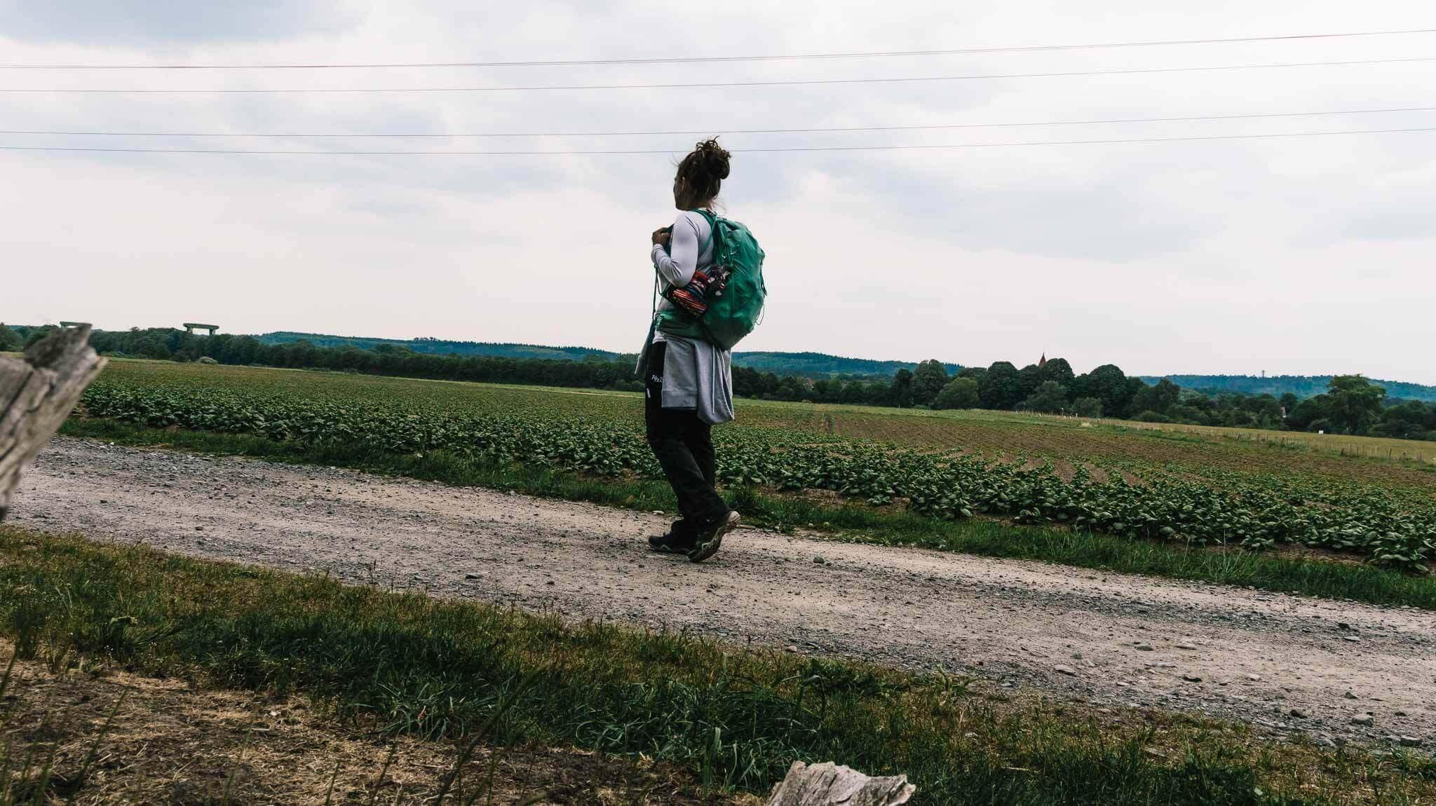 Jessie von BUNTERwegs auf dem Weg zur Westruper Heide